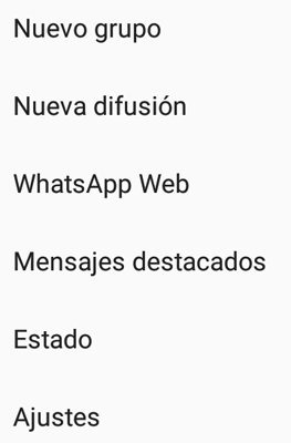 Menu whatsapp fondo
