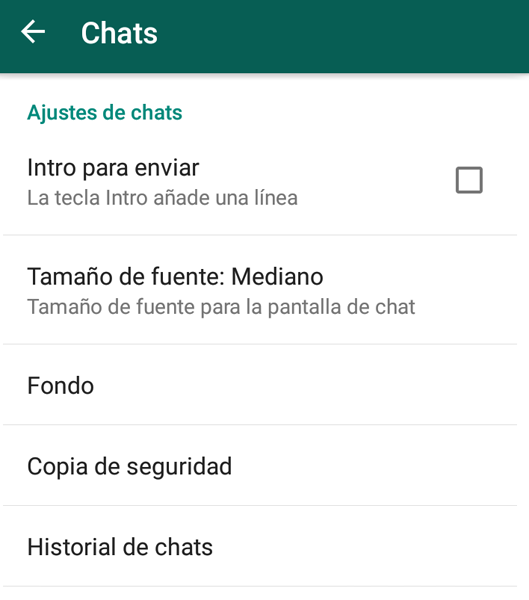 modificar fondo whatsapp