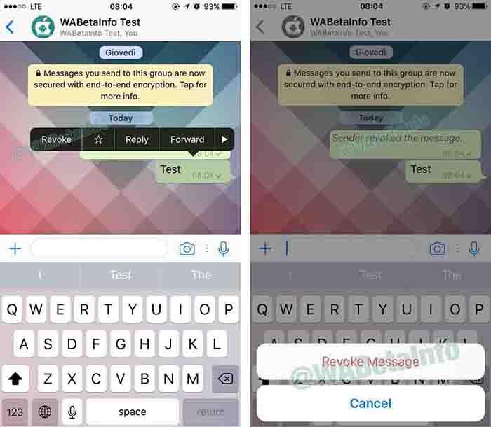 revocar mensajes whatsapp