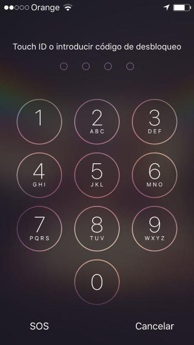 botón SOS en iphone