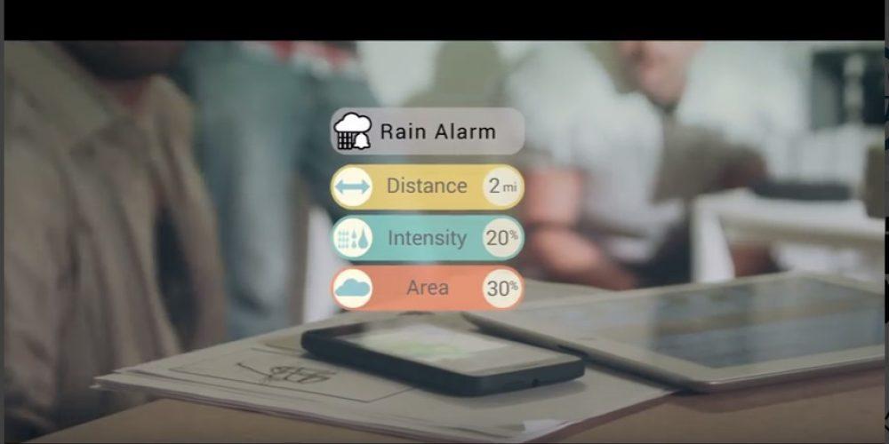 Aplicación perfecta para mayores que te dice amablemente: ¡Cuidado que llueve!